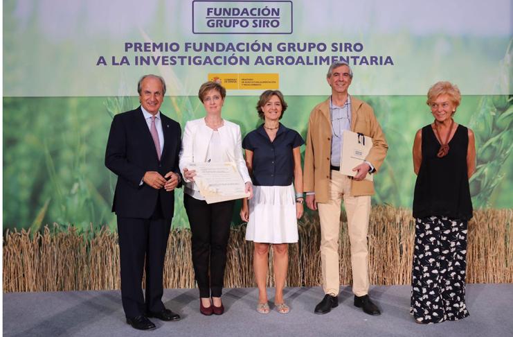 El Instituto Navarro de Tecnología e Infraestructuras Agroalimentarias (INTIA), galardonado por la Fundación Siro