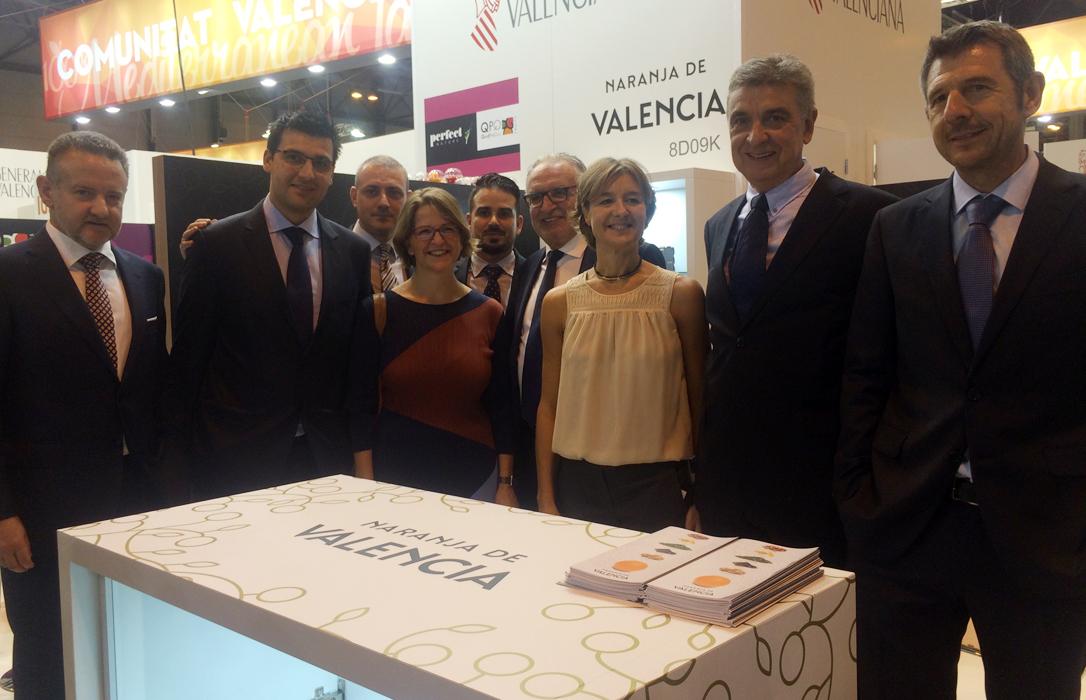 Sobresaliente estreno de Naranja de Valencia en su presentación oficial en Frut Atracttion