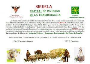 FIESTA DE LA TRANSTEMINANCIA LA SIRUELA 2
