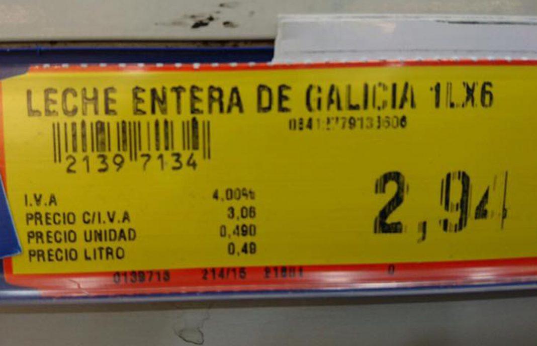 Denuncian a Makro de «juego sucio» por vender la leche gallega a 0,49 euros el litro