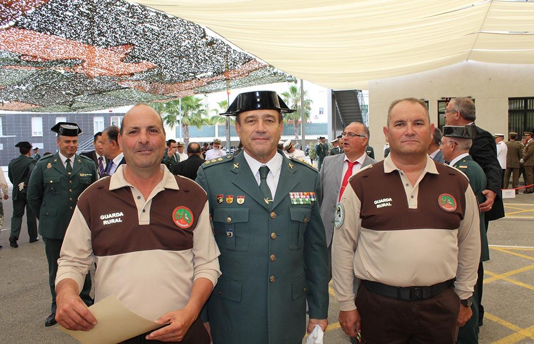 Dos guardas rurales de la sectorial de Asaja-Cádiz, reconocidos por la Guardia Civil