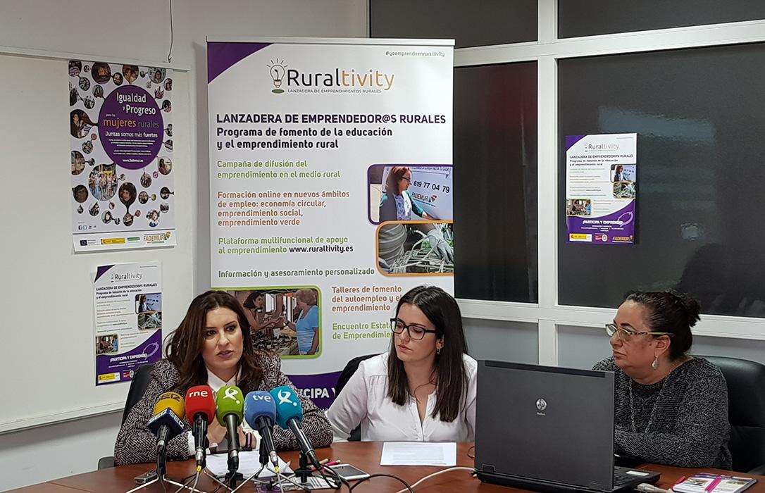 Fademur Extremadura presenta Ruraltivity, una lanzadera para emprender en el medio rural