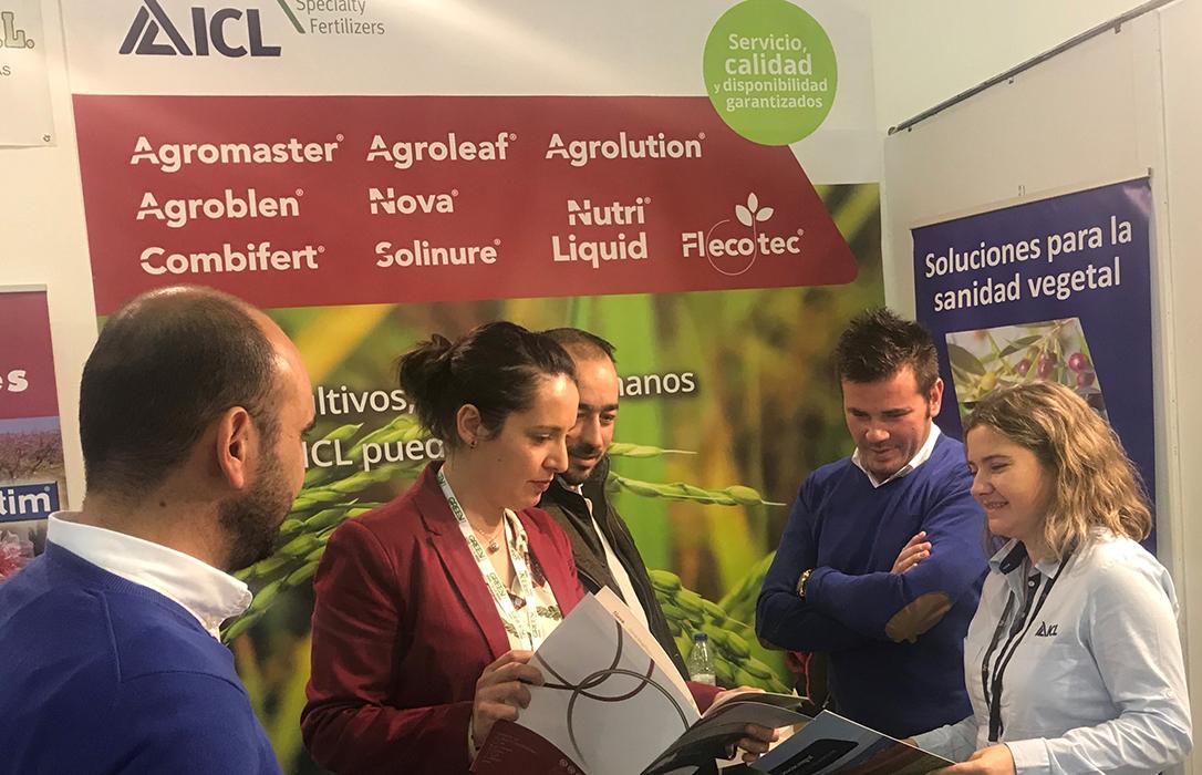 ICL muestra en AgroExpo la eficacia del abonado del arroz con una aplicación de Agromaster