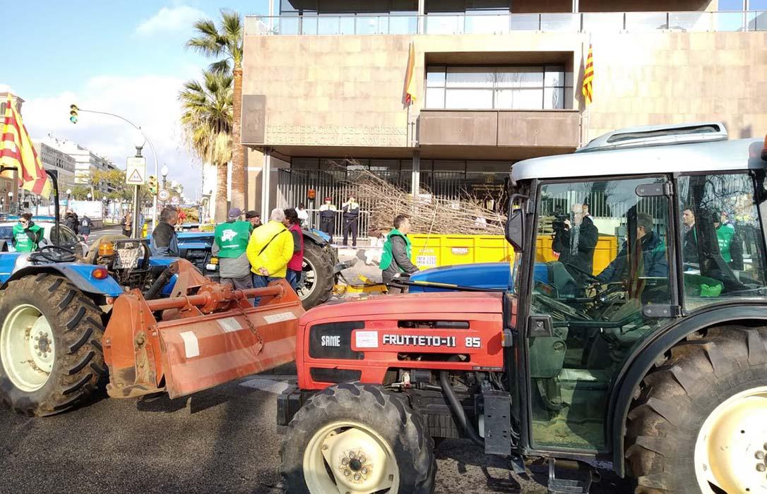 El sector de la avellana saca los tractores a la calle para reclamar ayudas tras una campaña nefasta
