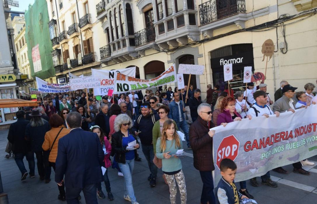 Cientos de personas salen a la calle contra las macrogranjas de porcino y la defensa de los pueblos vivos