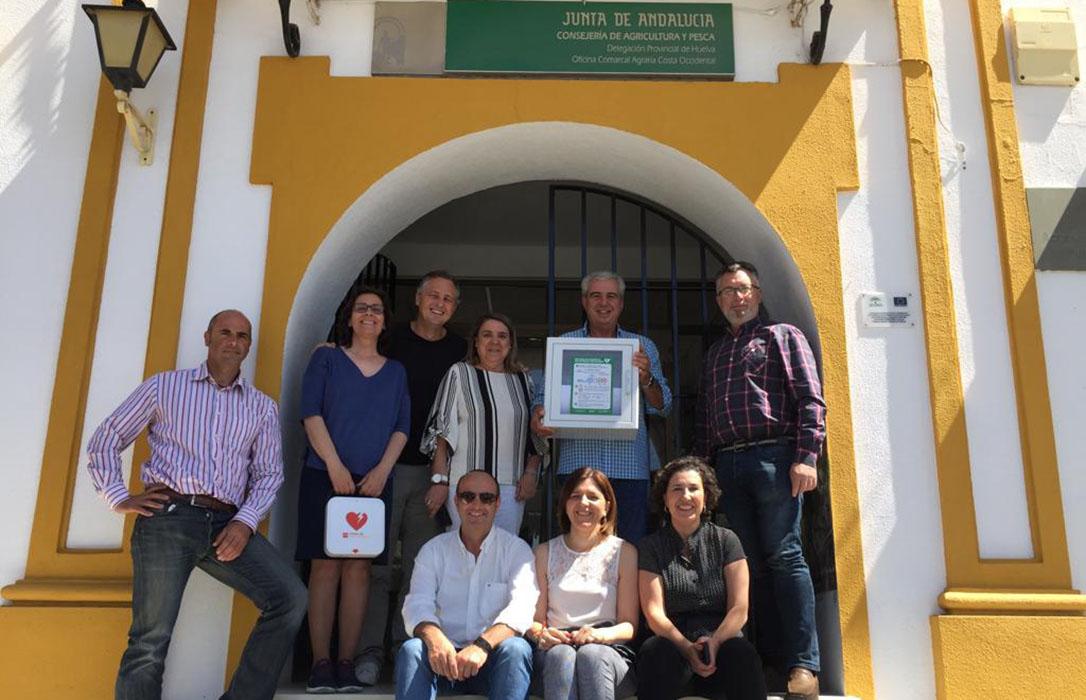 Andalucía apuesta por los espacios cardiosaludables e instala desfibriladores en las Oficinas Comarcales Agrarias andaluzas