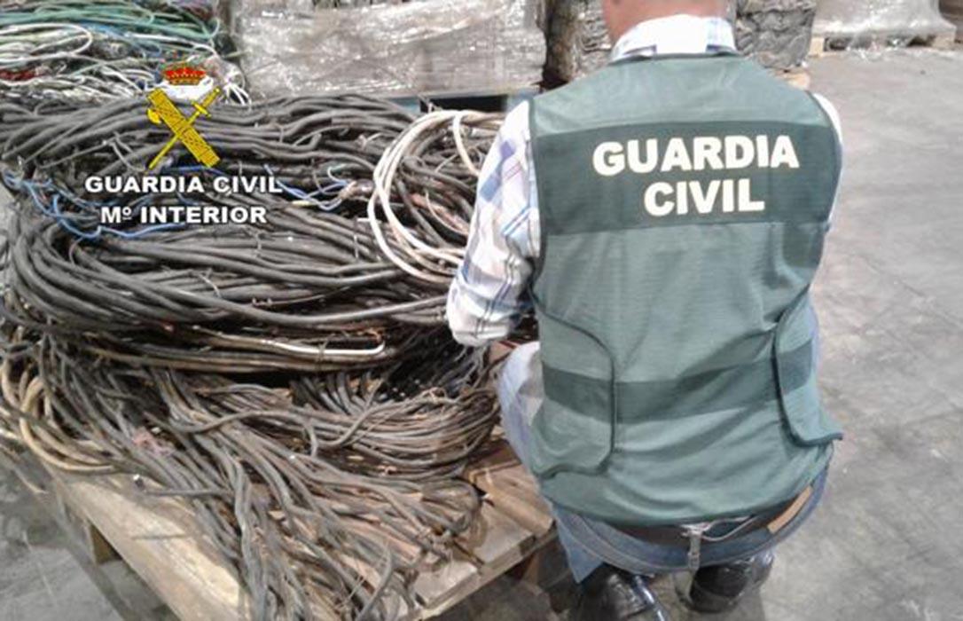 Cinco detenidos por el robo de 320 kilos de cable de cobre y material agrícola en diferentes pueblos