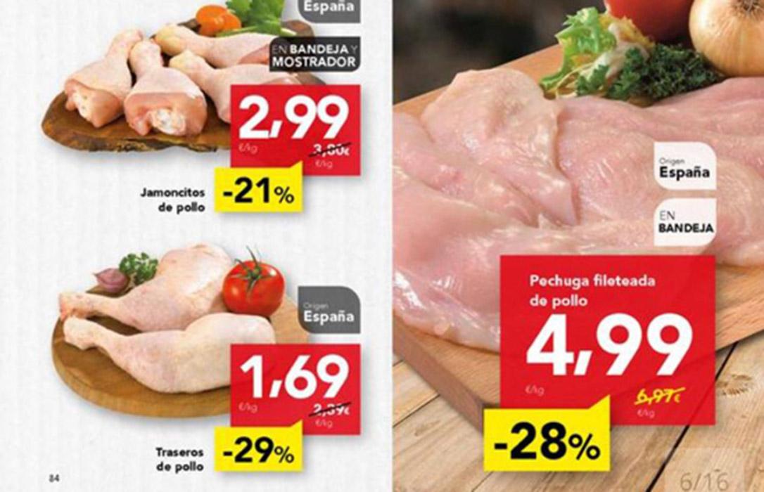 Denuncia a DÍA ante la AICA por hundir el precio de la carne de pollo al venderlo por debajo del coste de producción