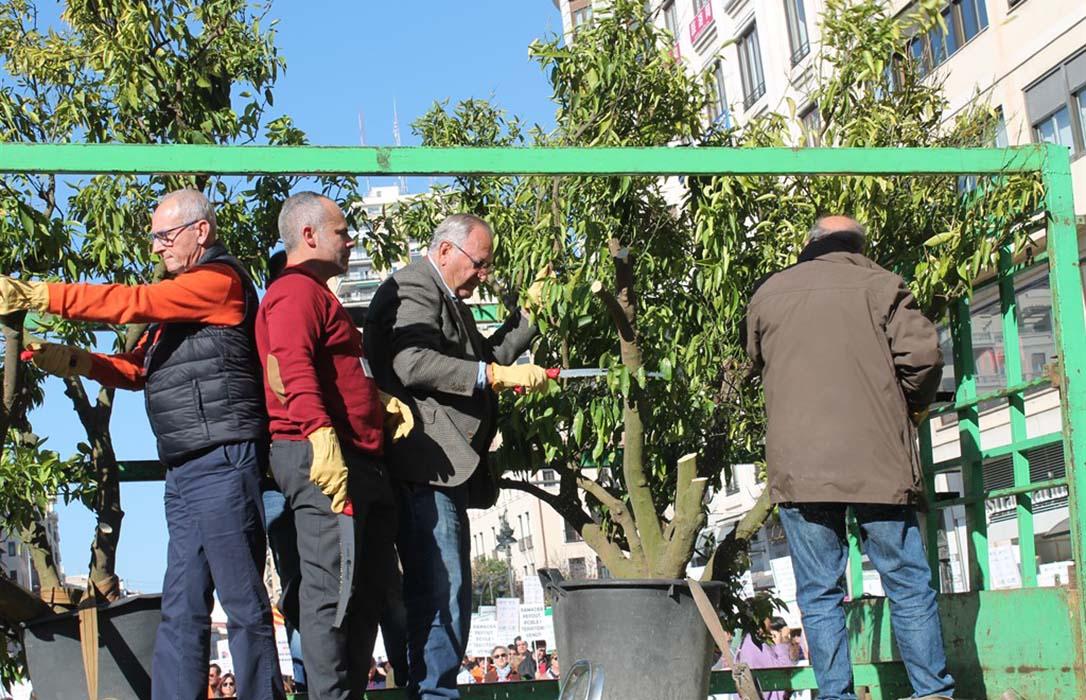 El campo incrementa sus protestas y corta por lo sano: 20.000 agricultores logran colpasar Valencia