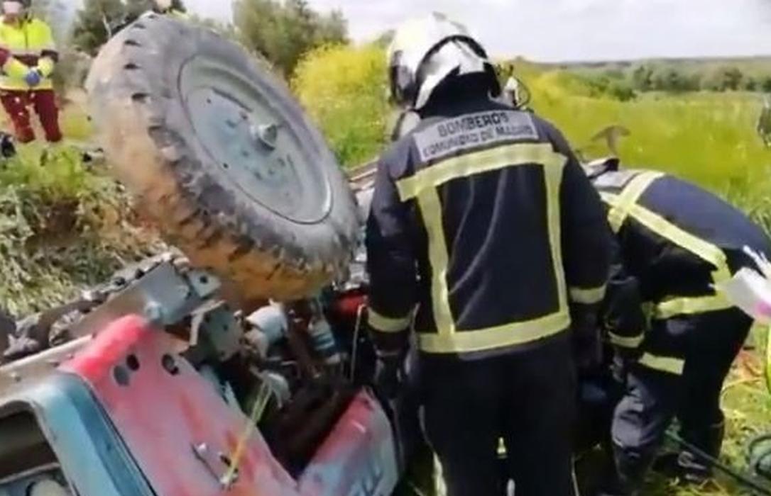 Un muerto y un herido grave en dos graves accidentes con tractores en Cuenca y Madrid