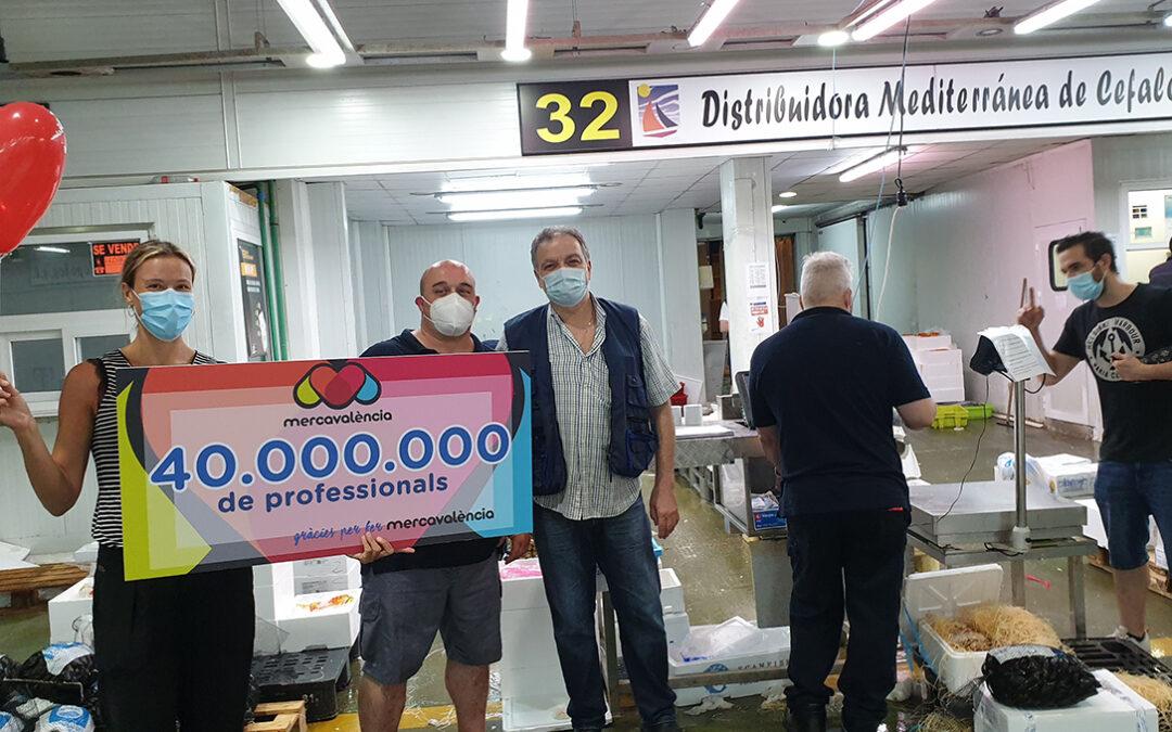 Mercavalència celebra la entrada 40.000.000 de profesionales agroalimentarios en sus instalaciones