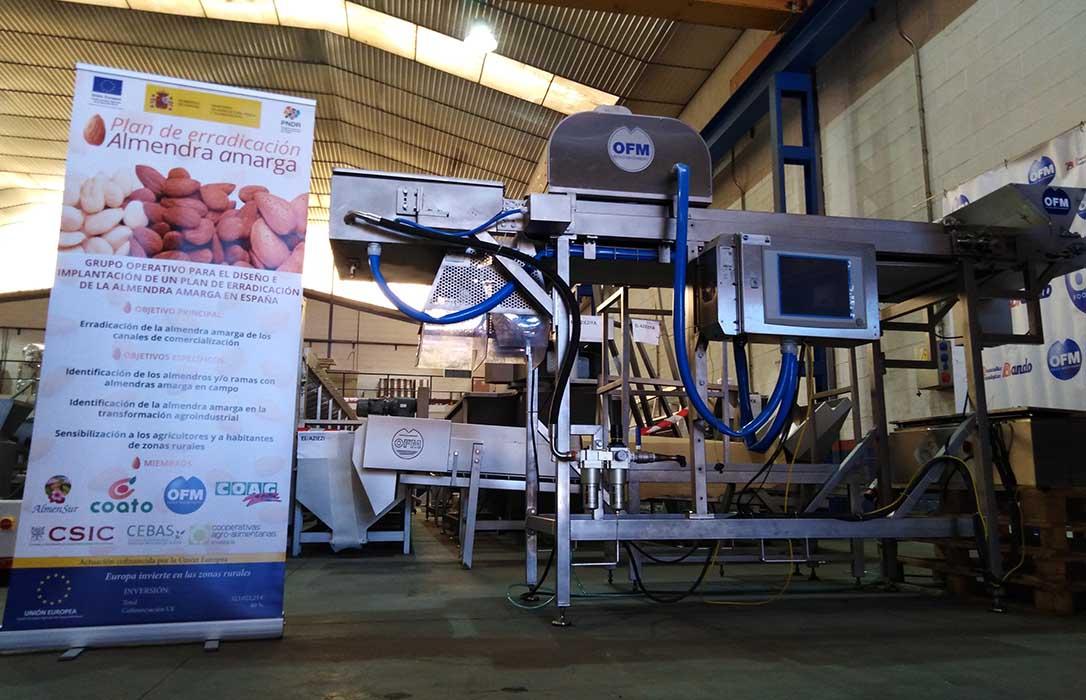 La detección automática de la almendra amarga en la línea de producción, cada vez más cerca