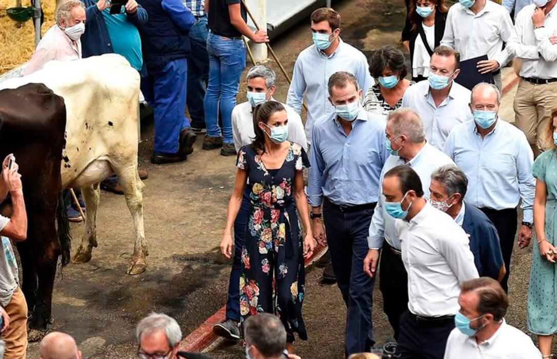 Suspendida la Feria de ganado de Torrelavega por un caso de Covid una semana después de la visita oficial de los Reyes