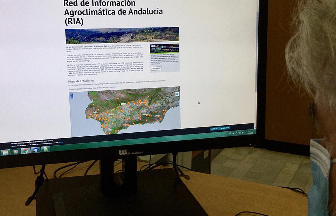 Una nueva web permite consultar la información recogida por las 100 estaciones meteorológicas de Andalucía