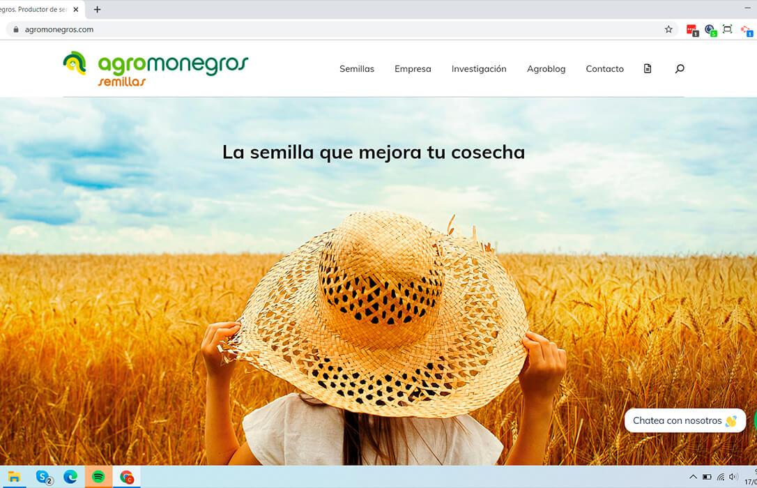 Agromonegros estrena una nueva web más accesible e intuitiva para el sector por su 40 cumpleaños