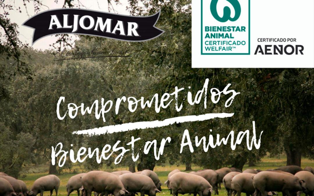 Jamones Aljomar consigue el certificado Welfair de Bienestar Animal de Aenor en todo su ciclo de producción