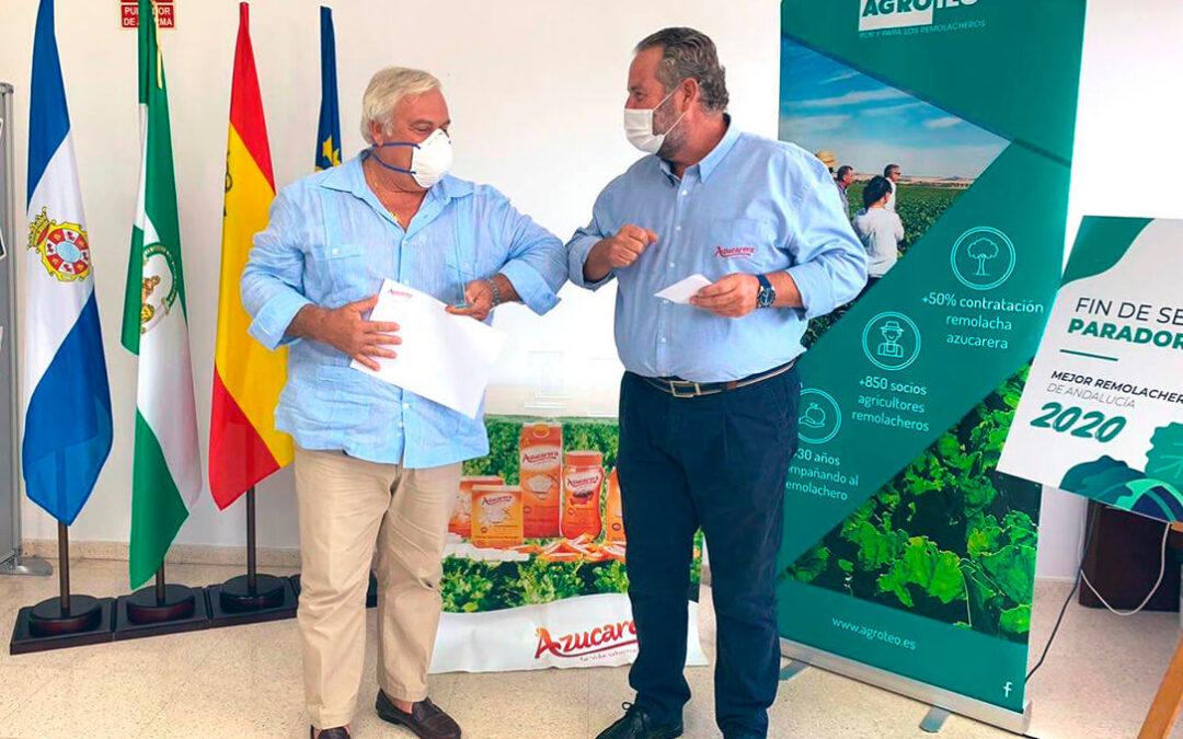 Premio Azucarera al mejor cultivo de secano de Andalucía al duplicar el rendimiento medio por hectárea de remolacha