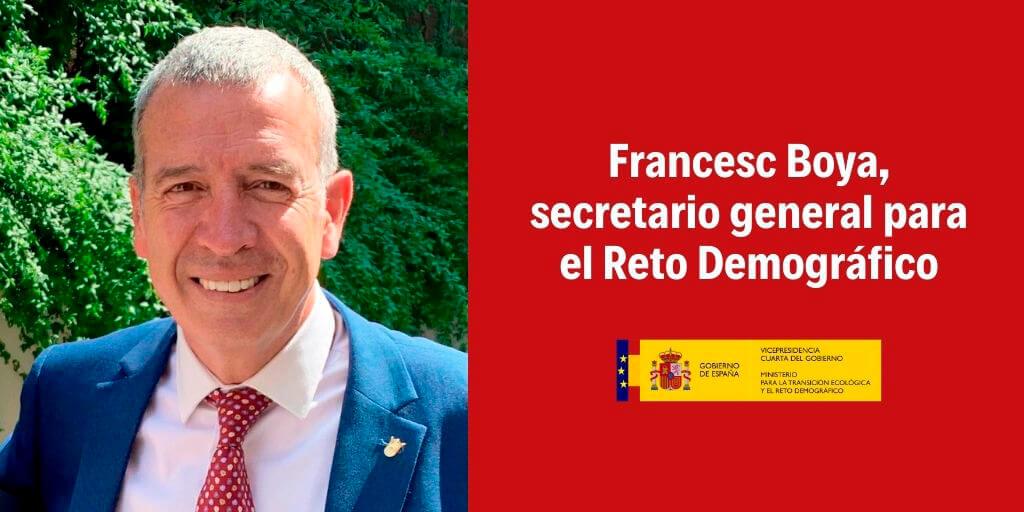 El Consejo de Ministros nombra a Francesc Boya secretario general para el Reto Demográfico