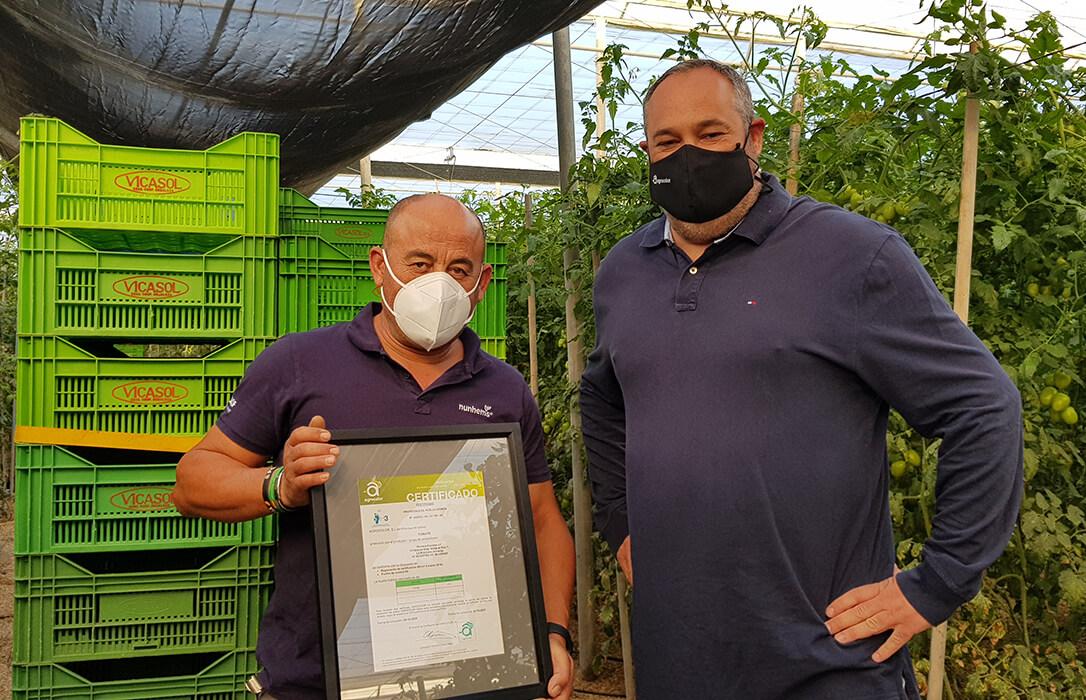 Un agricultor almeriense, primero del mundo con el certificado de riego eficiente H3+