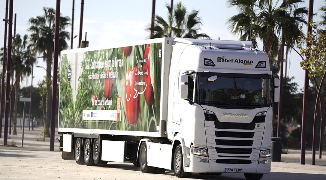 Las frutas y hortalizas de invernadero se promocionarán sobre ruedas por todas las carreteras europeas