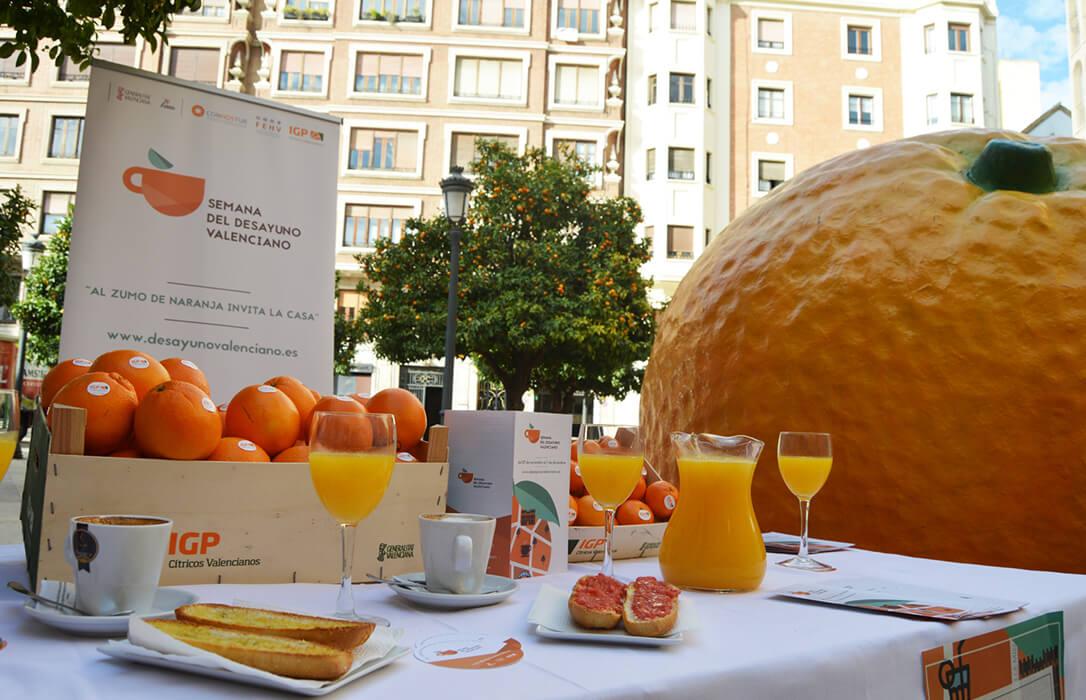 Castellón se incorpora a la Semana del Desayuno de la IGP Cítricos Valencianos para invitar a todos a un zumo de naranja