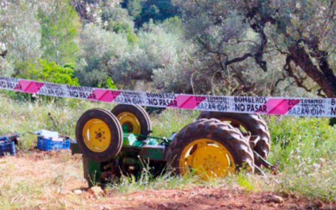 Fallece un hombre de 54 años al volcar su tractor tras un mes de descenso en los accidentes