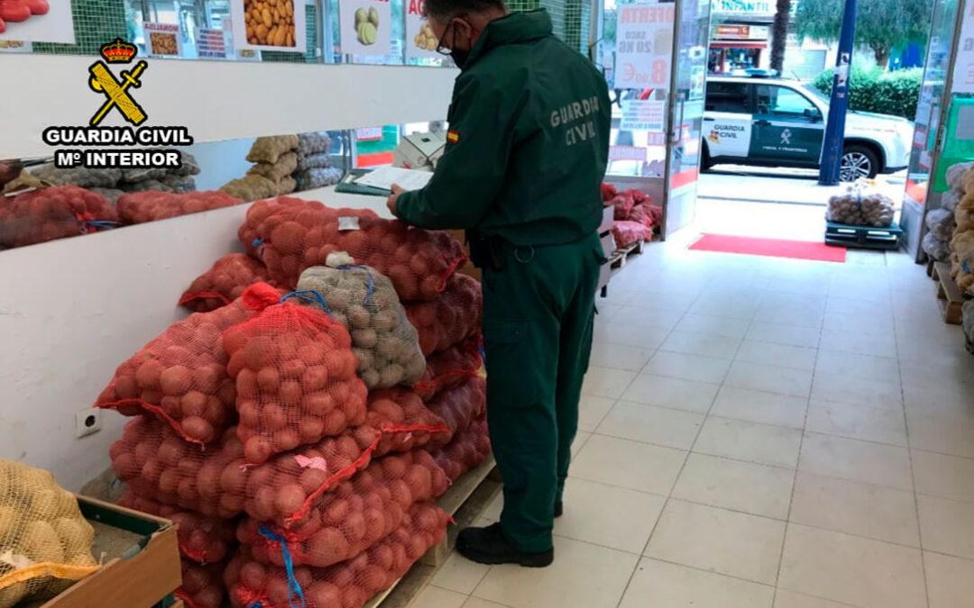 La Guardia Civil inmoviliza 1,5 toneladas de falsas patatas IGP Galicia en plena campaña para poner en valor los productos con DO
