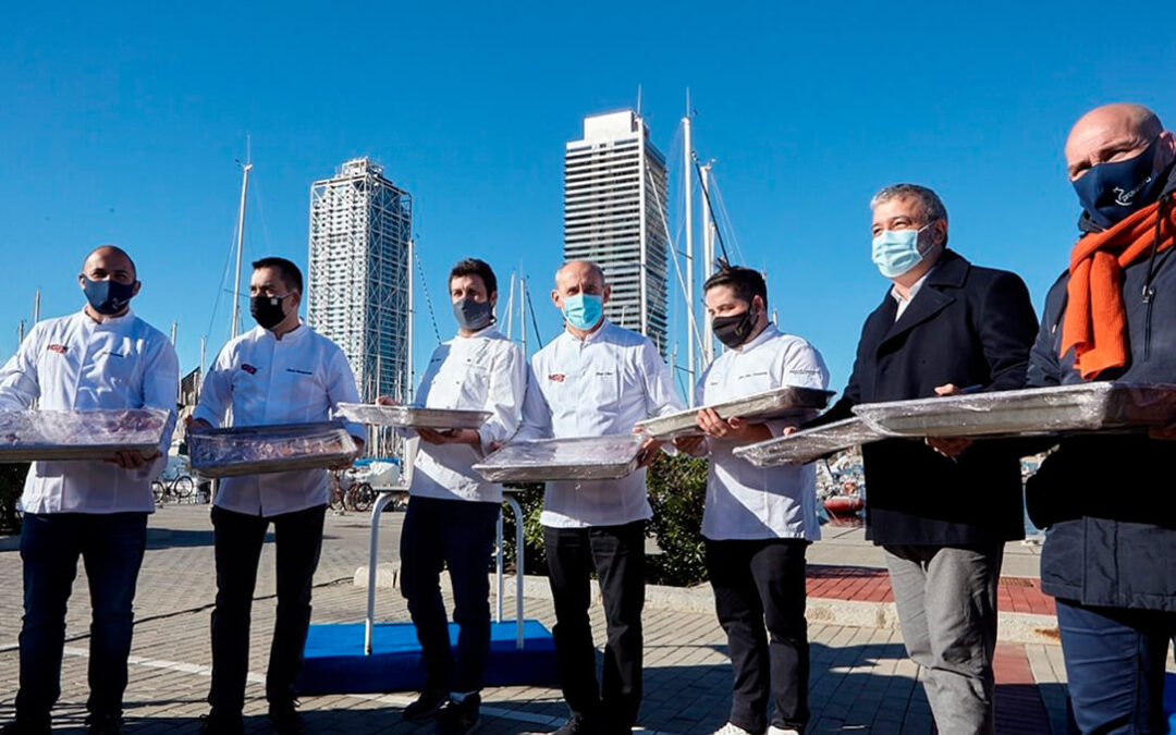 Provacuno entrega 1.000 raciones de comidas con carne de vacuno cocinadas por estrellas Michelin para personas necesitadas