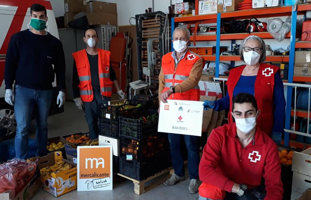 El clúster Mercalicante dona más de 37.146 kilos de alimentos para el desarrollo de iniciativas de carácter solidarias en 2020
