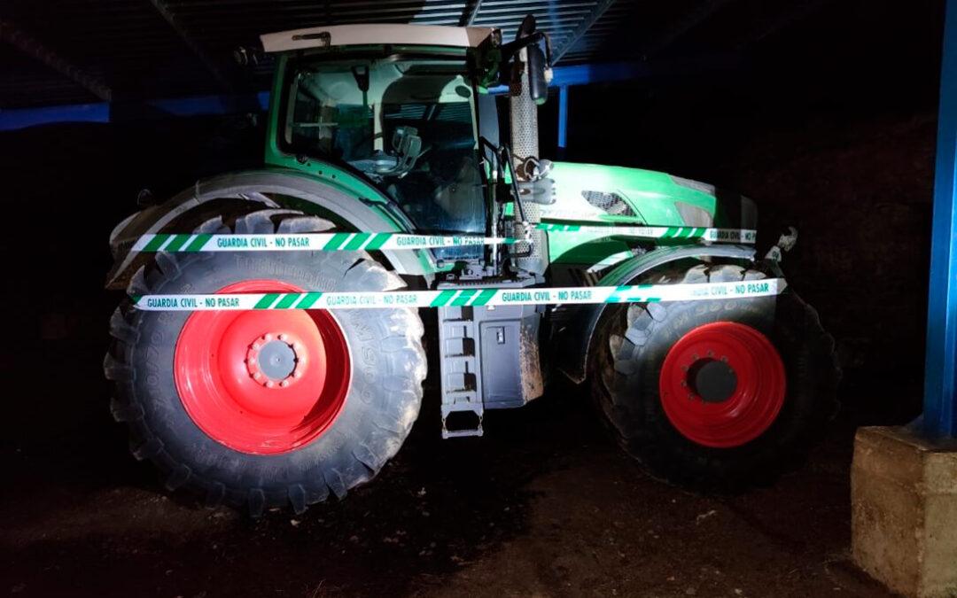 Cuatro detenidos y desarticulado un grupo criminal tras robar un tractor valorado en 80.000 euros en Soria