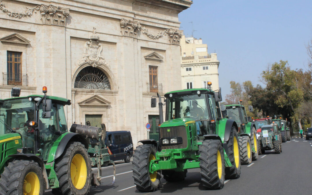 El campo se moviliza: 300 tractores de arroceros reclaman en Valencia un paquete de medidas de apoyo que garanticen su viabilidad