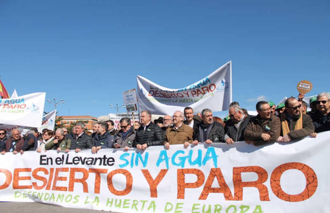 Presión sobre Ximo Puig para que dé un paso al frente en defensa del Trasvase y acuda a la gran protesta de este jueves
