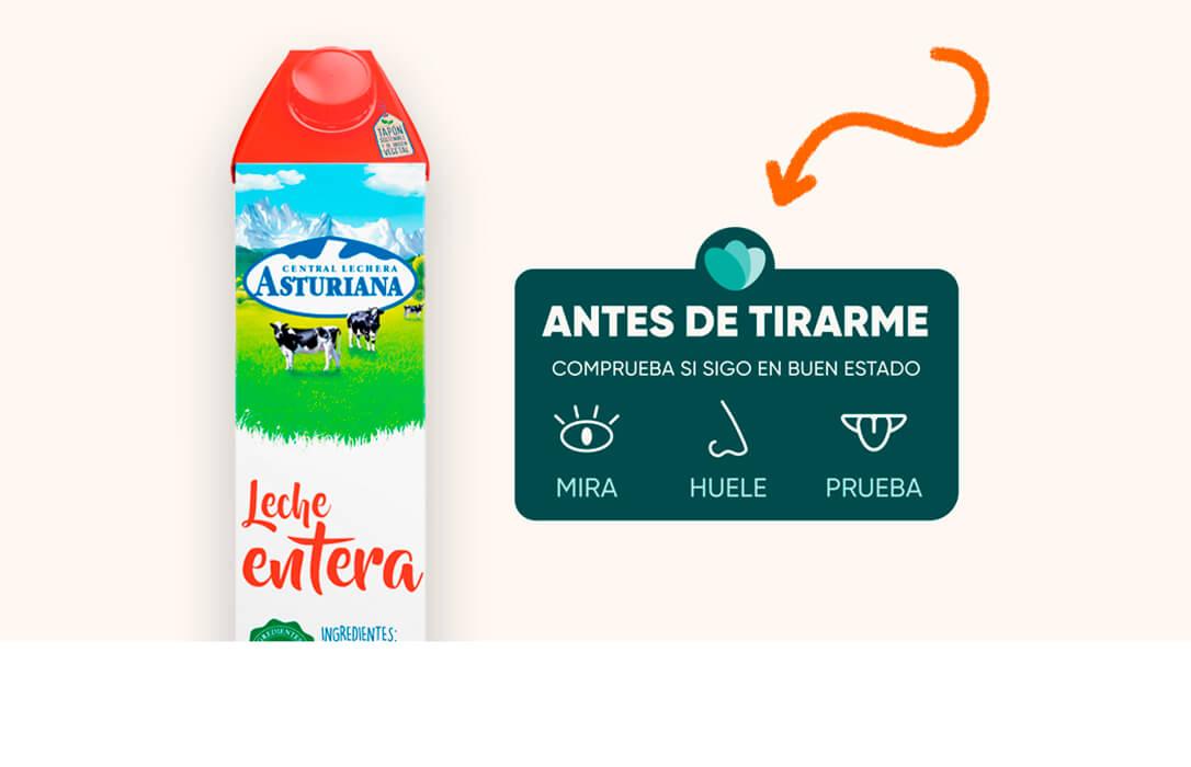 Central Lechera Asturiana se une a la iniciativa 'Mira, Huele, Prueba' de Too Good To Go, para combatir el desperdicio de alimentos