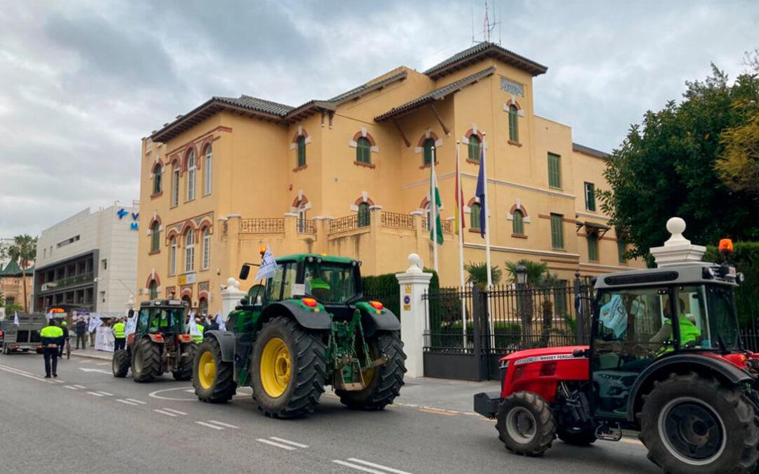 El sector agrario andaluz toma Málaga en su última protesta contra la reforma de la PAC