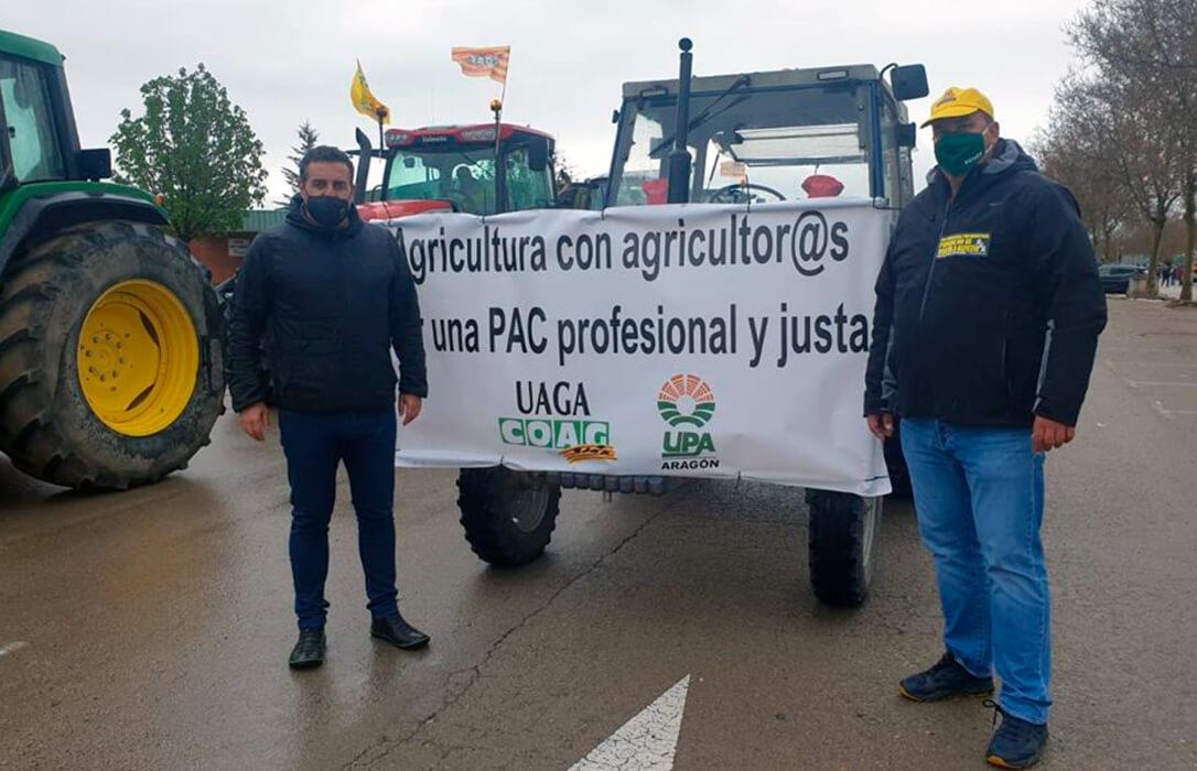 UAGA-COAG mantiene la protesta de este jueves en Zaragoza para reclamar una PAC profesional y justa