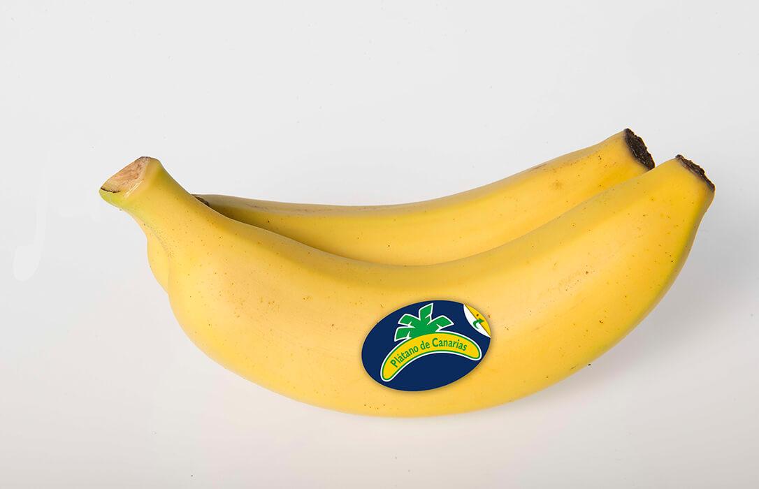 Plátano de Canarias, primera fruta de España que ofrece un etiquetado nutricional para la venta a granel