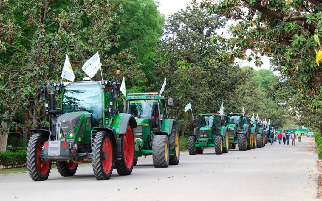 Los tractores saldrán de nuevo a la calle para pedir agua para el Bajo Guadalquivir
