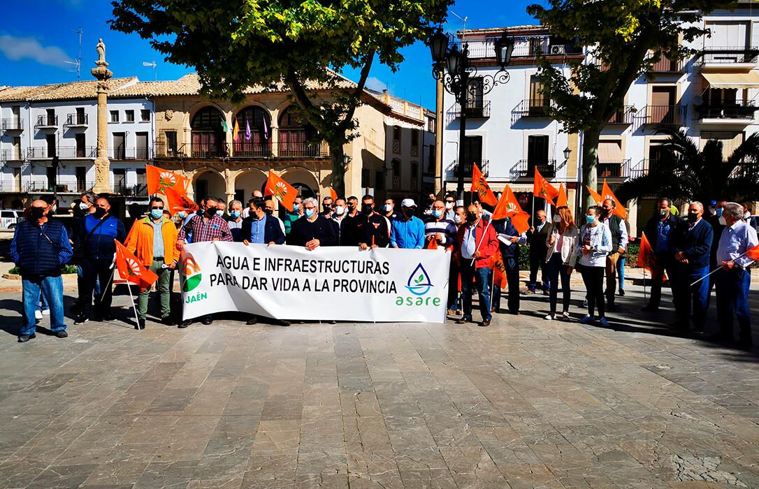 Nueva protesta para exigir agua e infraestructuras para regar el olivar y dar vida a la provincia de Jaén