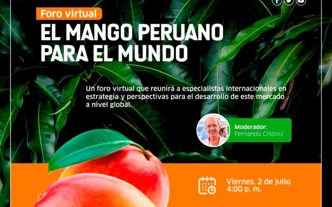 Un foro virtual que aborda la realidad internacional y las perspectivas de crecimiento del mango peruano