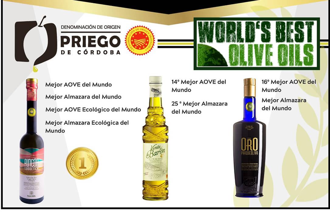 Almazaras de la Subbética, S.L (DOP Priego de Córdoba) gana por tercera vez todas las categorías del World's Best Olive Oils