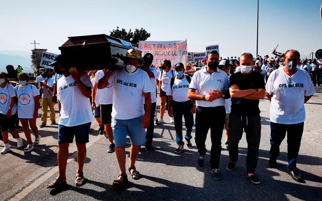 El nuevo precio de la leche de Mercadona no entierra pero desquebraja  la unidad del sector lácteo en sus protestas