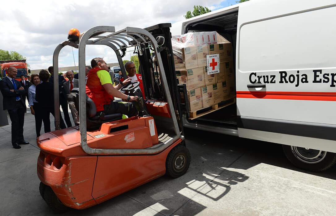 El Gobierno distribuye a través del Fega 40 millones de kilos de alimentos del programa europeo de ayuda a las personas más desfavorecidas