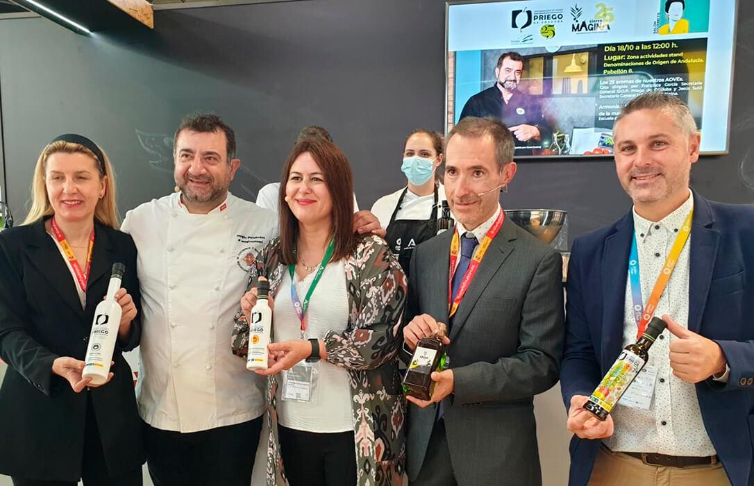 Las Denominaciones de Origen Protegidas Priego de Córdoba y Sierra Mágina celebran en el Salón Gourmets su 25 aniversario