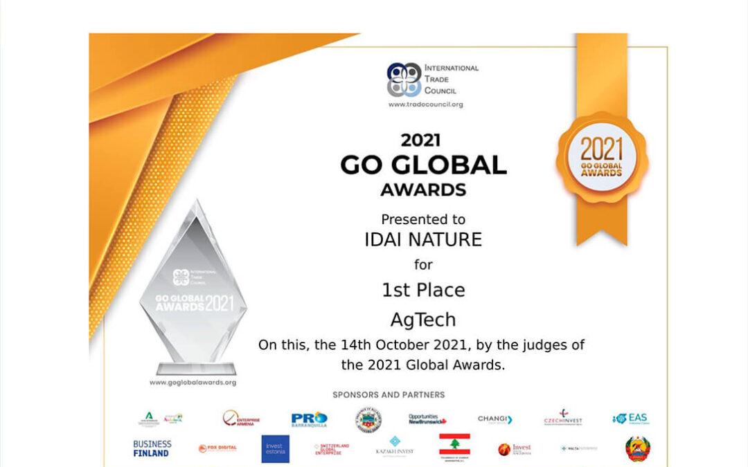 Idai Nature, elegida mejor empresa AgriTech por el International Trade Council entre 4372 candidaturas de cien países